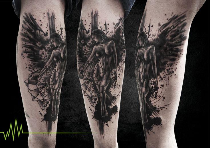 marc heubach trash engel klein tatoo pinterest. Black Bedroom Furniture Sets. Home Design Ideas