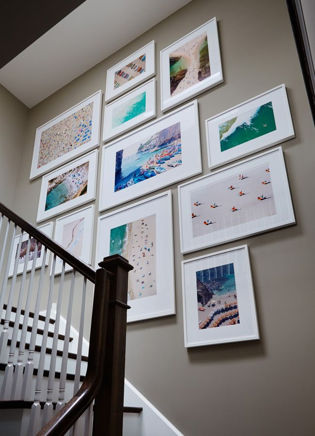 omg. I love this gallery wall with gray malin photographs