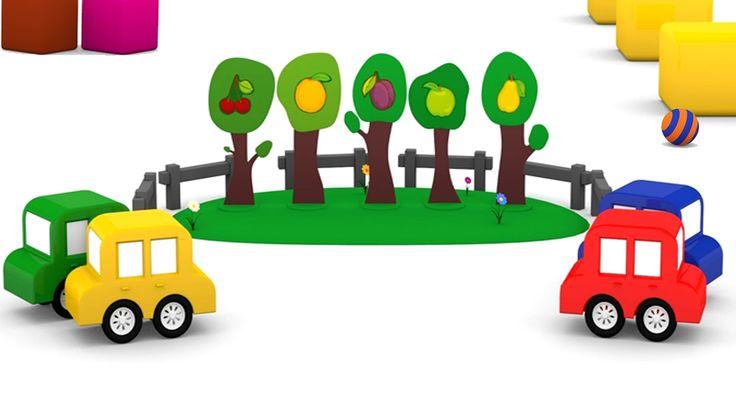 Cartoni animati per bambini - macchinine colorate e gli alberi da frutto Il parco giochi si riempie di verde e altri divertimento con gli alberi da frutto!Quattro puzzle per le 4 macchinine colorate. I puzzle per bambini spesso hanno come tema la frutta, di quale frutta s #cartonianimati #italia #bambini