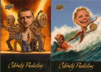 2010 Upper Deck - Celebrity Predictors #CP3-CP4 Justin Timberlake / Cameron Diaz Front