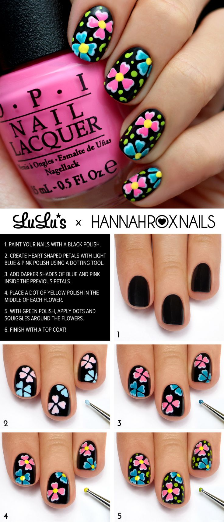 Flirty Floral Mani Tutorial <3 Perfect for Summer! #nails #mani