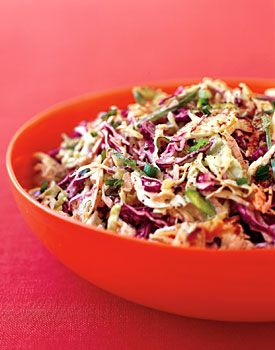 Rainbow Slaw Recipe | Epicurious.com This wonderful slaw will last in your fridge for a week, perfect for busy folks ♥