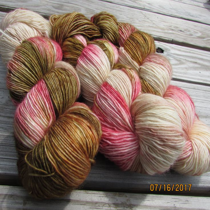 100% Superwash Merino Singles fingering. Please come look us up on Etsy.com as Peppender Yarns