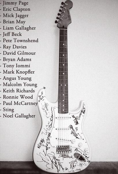 Most expensive guitar ever sold ($2.7 million) signed by all those names (*Um, wow. Just wow. kmh*)