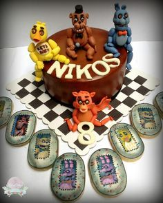 The Blue Cottage: Birthday Cake - Five Nights at Freddy's Cake and Cookies :)