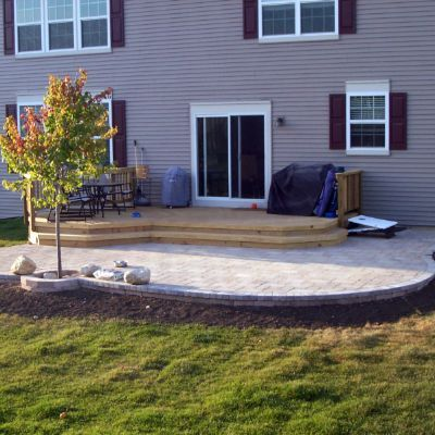 Unilock Patio And Deck Combination By Hoffman Estates, IL Patio Builder