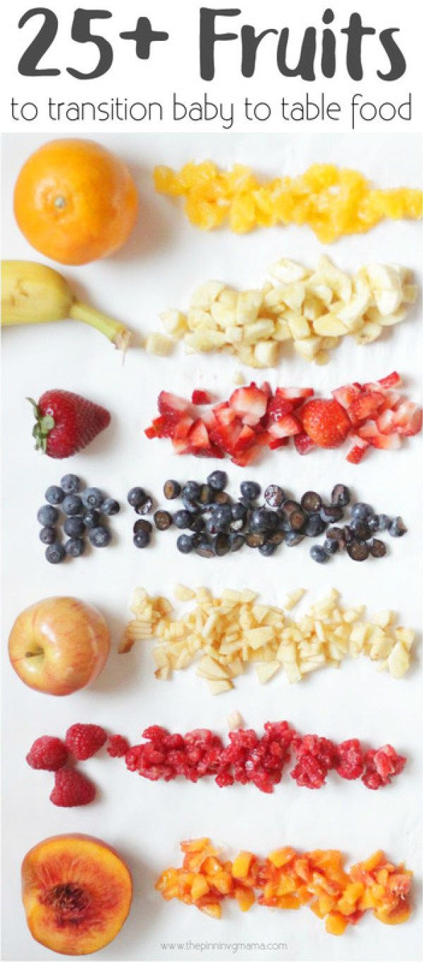 25+ Fruits Andbinations To Transition Baby To Table Food