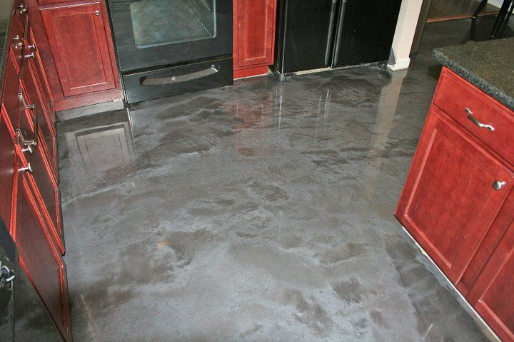 designer epoxy kitchen floor. concrete floors memphis | home decor