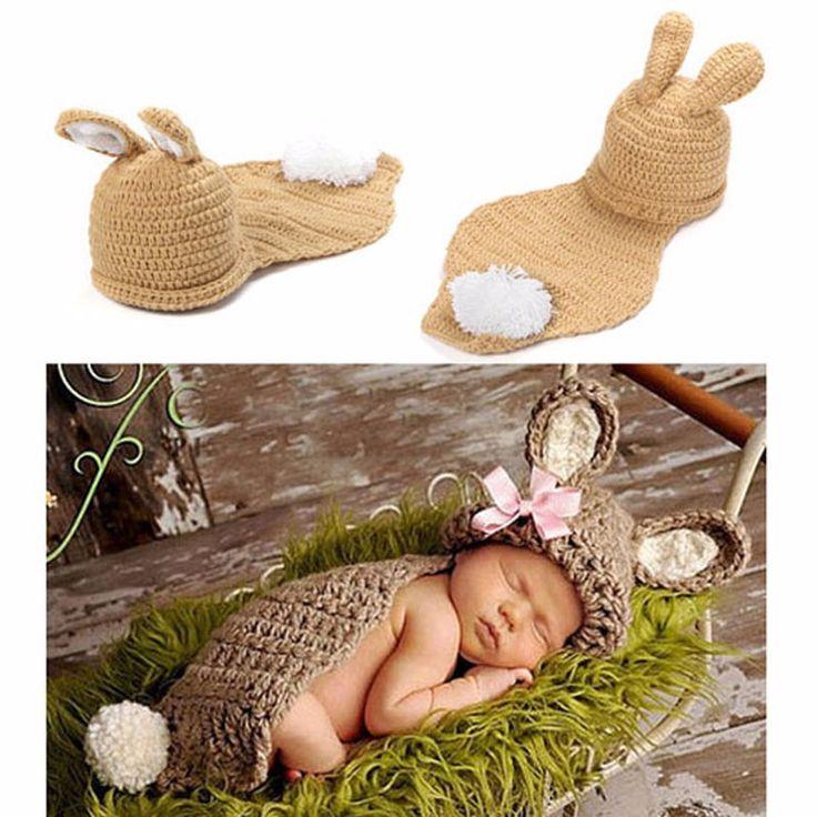 사진 소품 아기 토끼 토끼 디자인 겨울 모자 & (China (Mainland))