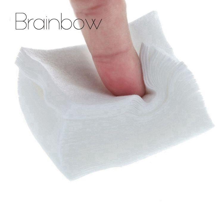Brainbow 100 stks UV Gel Nagellak Remover Wattenschijfje Droge Doekjes gebruikt met Revomal Vloeistof Nail Art Tips Nail Schoon Droog Pluisjes papier