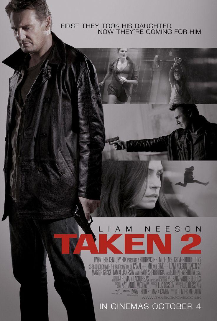 "Latest poster of ""Taken 2"" starring Liam Neeson"
