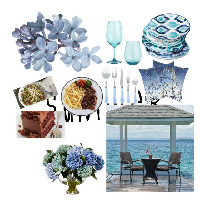 """Untitled #67"" by jana40299 ❤ liked on Polyvore featuring interior, interiors, interior design, home, home decor, interior decorating, Mudhut, Clarissa Hulse, Pier 1 Imports and summeroutdoordining"