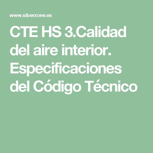 CTE HS 3.Calidad del aire interior.