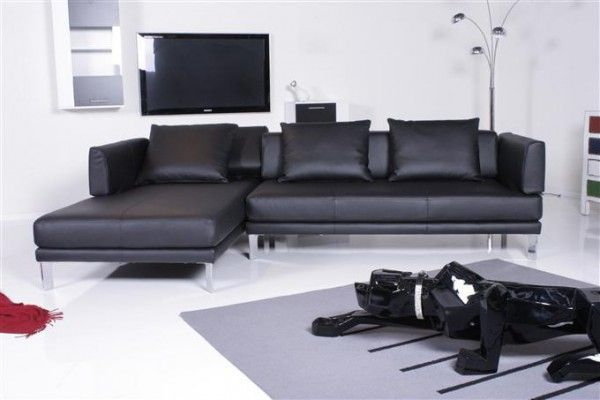 couches to enjoy the rolf benz sofa 344 sento ecksofa leder schwarz recamiere links. Black Bedroom Furniture Sets. Home Design Ideas