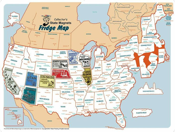 State Magnet Collectors Static Cling USA Fridge Map - Usa statemap