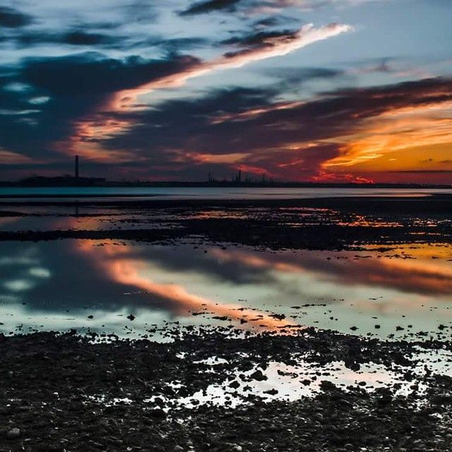 #Fawley #Powerstation  taken at #sunset #Beach #sea  #Canon550D #Canon edited with #Adobe #Lightroom for more images check out www.Thirteen8photography.co.uk