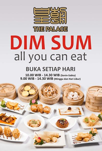 [Exclusive] Another Fantastic Deal All You Can Eat Dimsum Di The Palace Hotel Emerald Garden Medan. Hanya Rp. 68.000,-nett / Orang