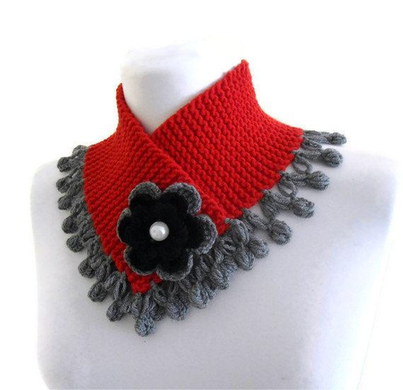 valentines day gift knitted neck warmer knit ♥ by likeknitting, $24.99