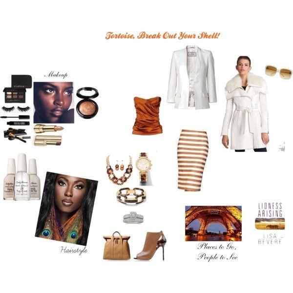 """Tortoise to Break Out of Your Shell"" by thedyb on Polyvore  #fashion #glamour #african-american #hairstyle #nailpolish #nailtreatments #tortoise #animalprint #leather #skirts #earrings #bracelet #ring #wedding #handbags #purse #shoegasm #white #beauty #eyeshadow #mascara #falseeyelash #sexy #makeup #offtheshoulder #winterwhite #winterstyle #winter #iman #sallyhansen #lionnessarising"