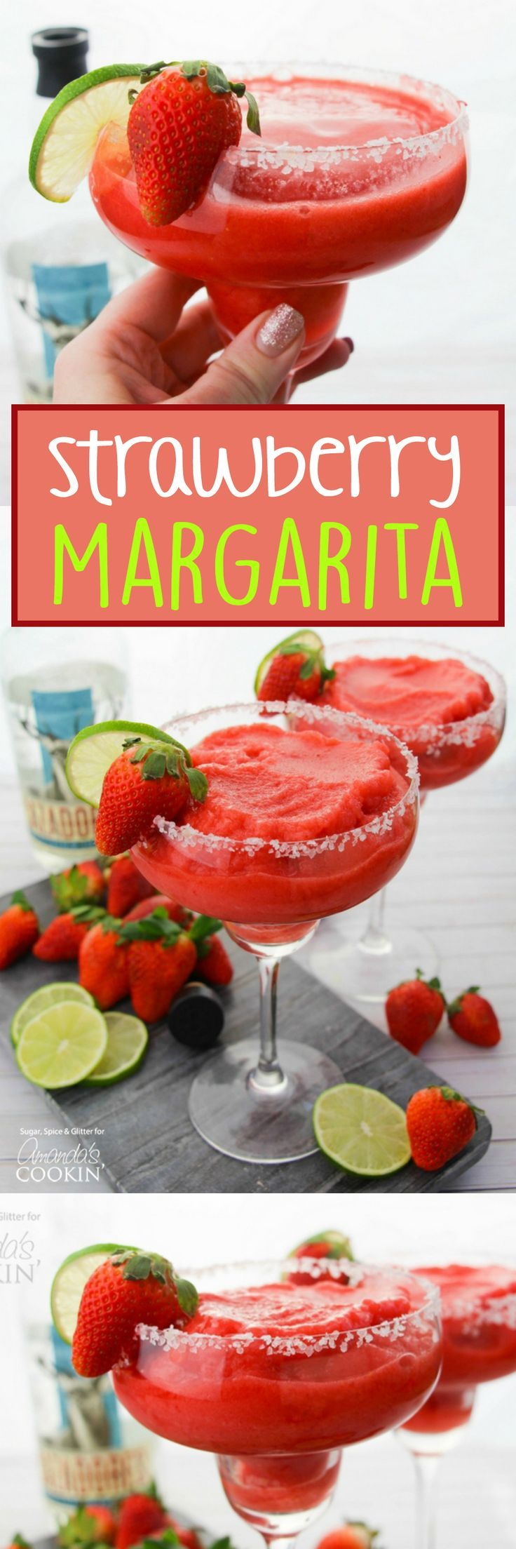 This Strawberry Margarita is the best way to enjoy tequila! A perfectly balanced cocktail for those who love the taste of tequila without the bite.