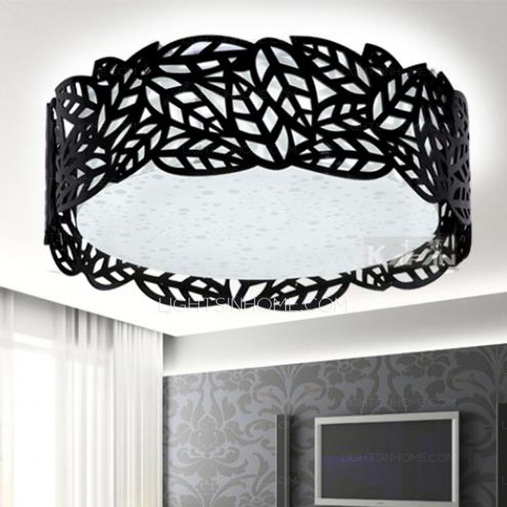 Large Flush Mount Ceiling Light And Black Drum 7 8 H In