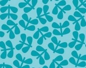 Piccadilly turquoise aqua tonal floral - Sparky & Marie