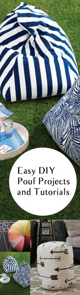 DIY pouf projects, pouf tutorials, DIY tutorials, DIY crafting, easy crafts, popular post, DIY decor, DIY outdoor accessories