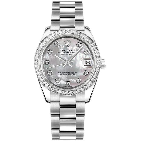 178384  | Rolex | Women's Watch ($14,550) ❤ liked on Polyvore featuring jewelry, watches, rolex wrist watch, rolex watches, rolex jewelry, rolex and steel watches