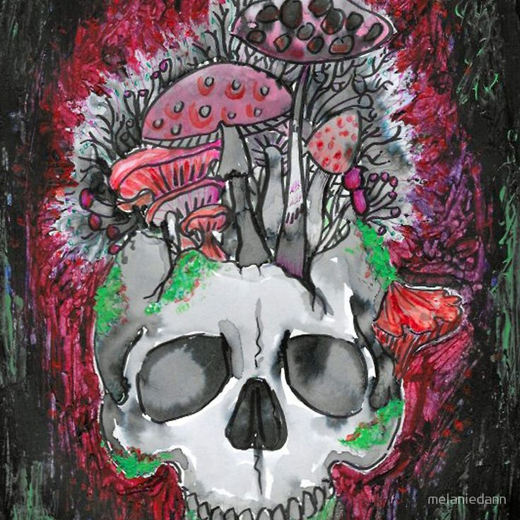 alive with colour skull home ware gift idea tattoo style art by melanie dann