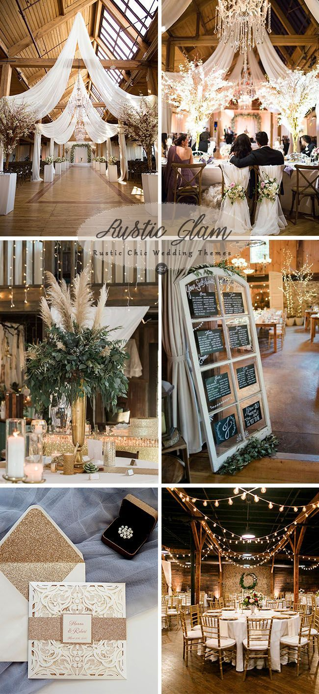 6 Inspiring Trending Modernized Rustic Chic Wedding Theme Ideas Elegantweddinginvites Com Blog Rustic Chic Wedding Decor Rustic Glam Wedding Rustic Modern Wedding
