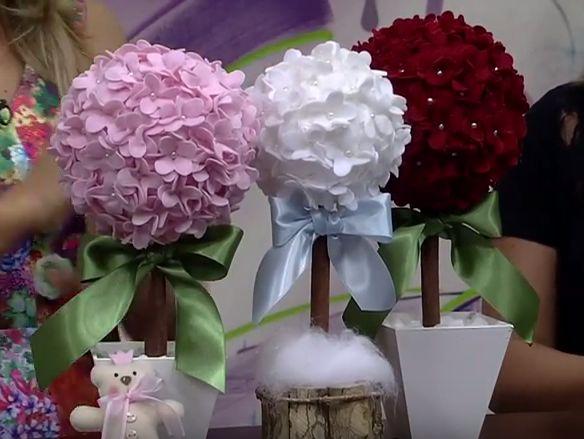 Piantina di fiori di feltro