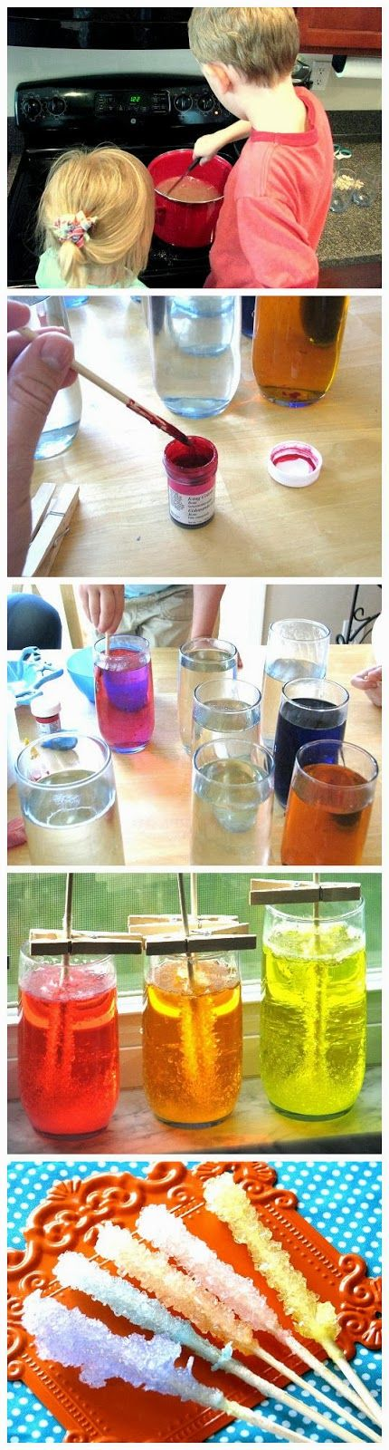 Homemade Rock Candy | DIY  Crafts Tutorials- use Kool  aid for color, instead