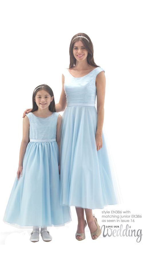 50's Style Tea Length Bridesmaid Dress