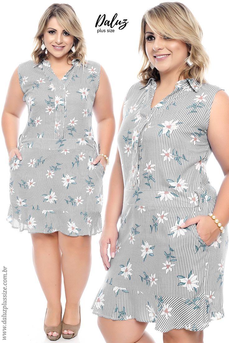 Macaquinho Plus Size - Alto Verão 2018 - www.daluzplussize.com.br