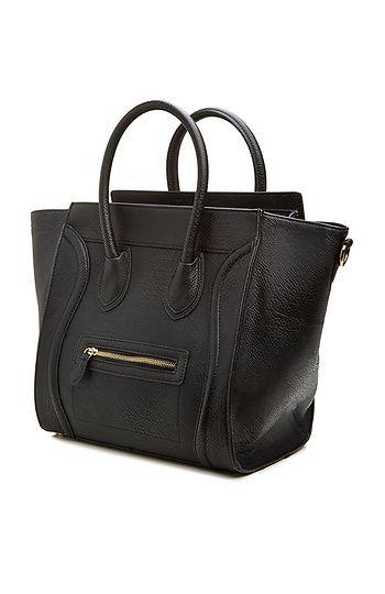DAILYLOOK Large Structured Handbag in Beige | DAILYLOOK.   Celine Knockoff