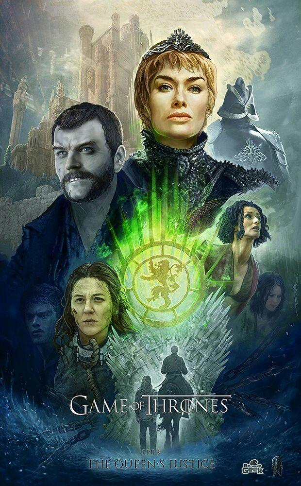 """Game of Thrones """"The Queen's Justice 07x03 Daenerys Targaryen encabeza un juicio mientras la reina Cersei Lannister devuelve un regalo. Por su parte, su hermano Jaime recibe una gran lección de sus propios errores. Además, Tyrion intenta utilizar canales secretos para conseguir su objetivo. @Ertacaltinoz"""