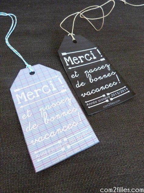 gift tag / etiquette cadeau des maitresses