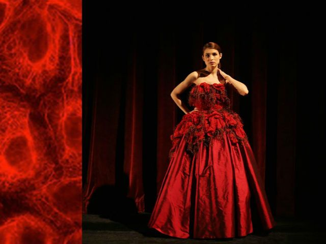 This Line of Cancer-Cell-Inspired Gowns Does Something Vogue Couldn't
