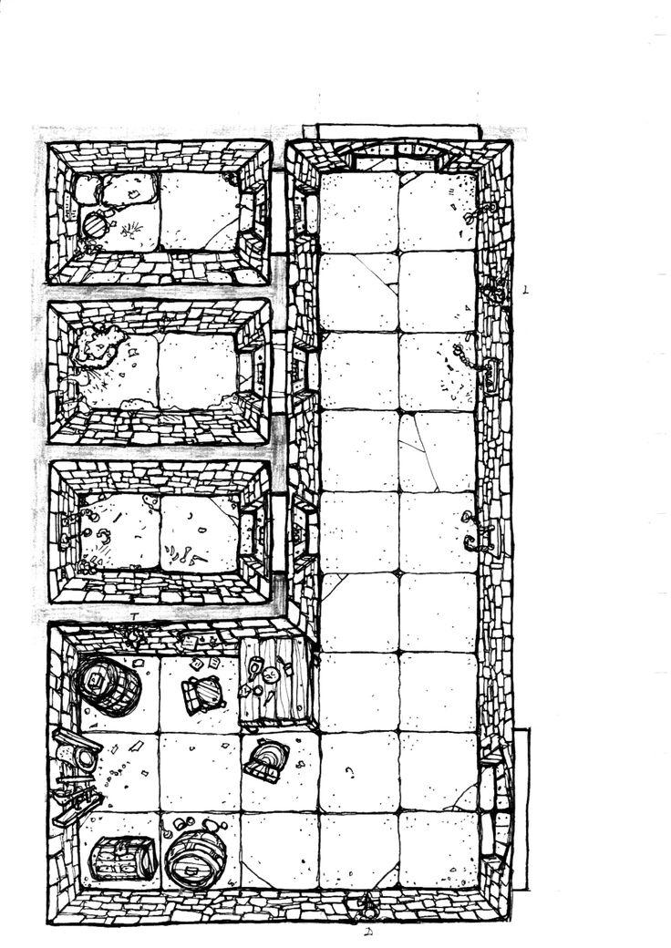 Dungeon Floor Plan Prison Wip By Billiambabble Deviantart