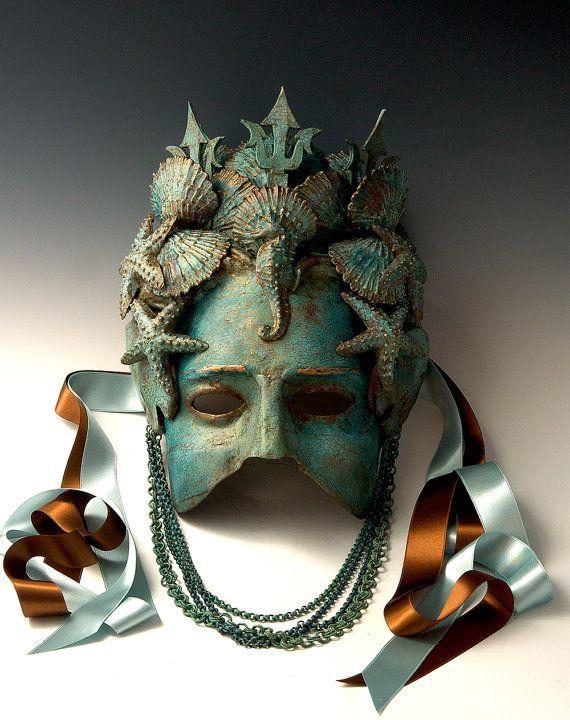 Amphitrite Half-Mask by TheArtOfTheMask on Etsy