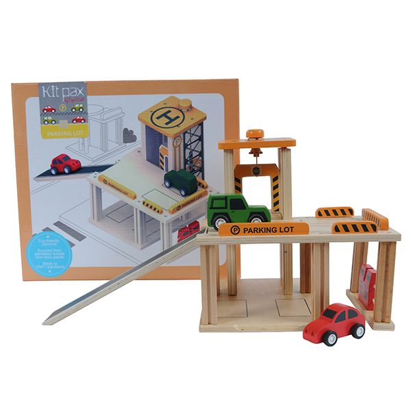 Boys gift idea online - Tiger Tribe Kit Pax - Parking Lot - $44.95 - Build up and off you go!  Portable, compact and guaranteed to provide hours of entertainment - just the way all kids toys should be!  Tiger Tribe Parking Lot set will delight!  All pieces are stackable and interchangeable, using a unique connecting system. Boys gift idea online - Tiger Tribe