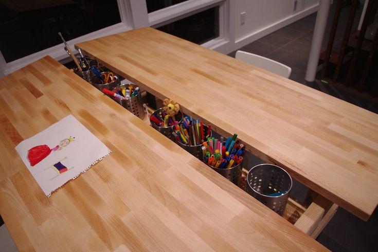 IKEA Hackers Multi Kid Drafting Table Desk Pinterest