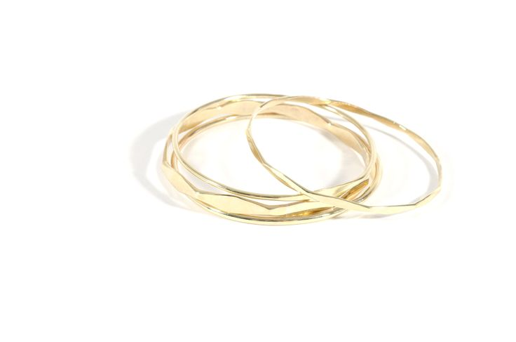 brass faceted bangles