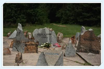 Graves with names in Treblinka Camp