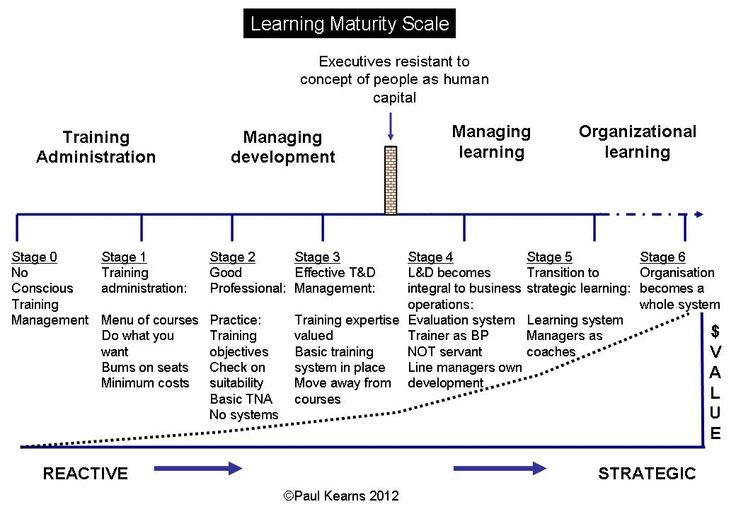 Learning maturity scale ©Paul Kearns 2102 Hosting
