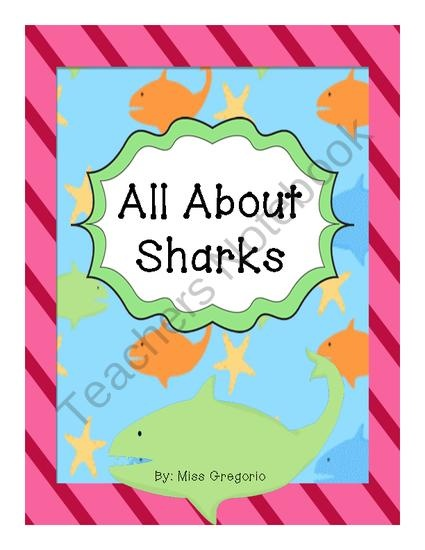 All About Sharks product from Tales-From-A-First-Grade-Teacher on TeachersNotebook.com