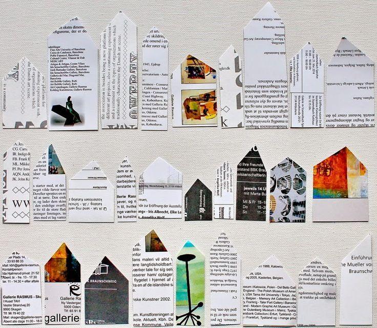 Reihenhauser Collage Erstellen Selber Malen Nachtaufnahmen