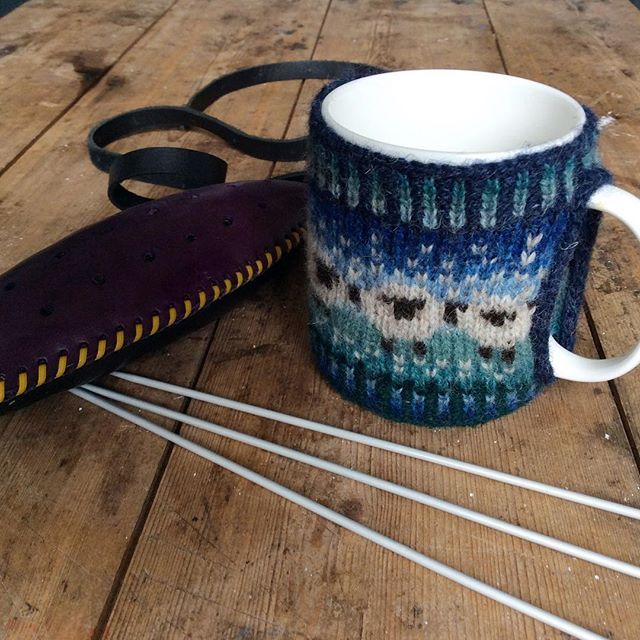 Shetland Wool Week classes: due to popular demand, more classes have been added to the schedule including two classes by myself on Mug Cosies.  During the class we will look at knitting in the round with more than one colour, steeking, picking up stitches etc.  The mug cost we knit in class may not look exactly like this one as I might modify the shape a bit but the learning process will be the same!  I am also doing extra classes on Traditional Haps and Shades of Shetland.  Classes will be…