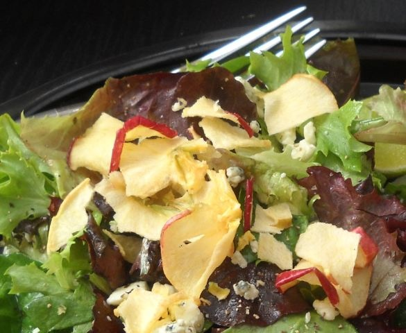 Romaine, mixed greens, Seneca apple chips, Gorgonzola