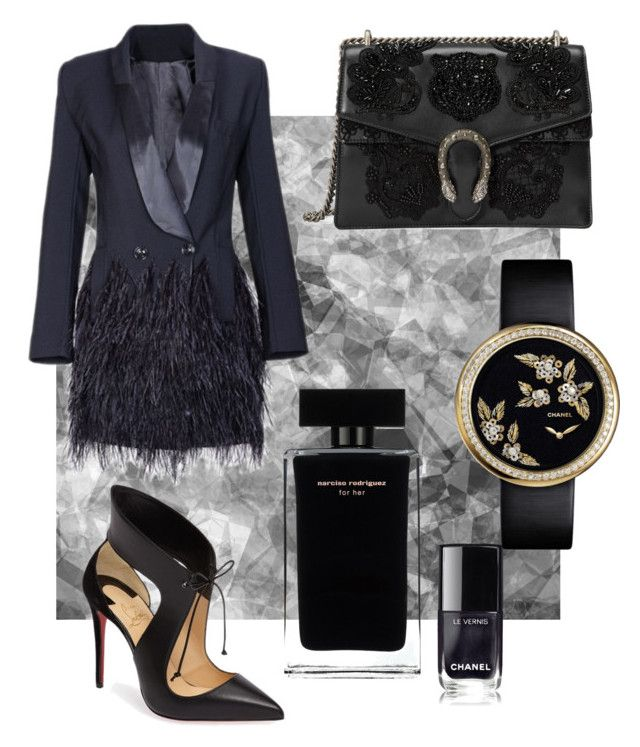 """Seduce"" by evanshram on Polyvore featuring Christian Louboutin, Gucci and Narciso Rodriguez"